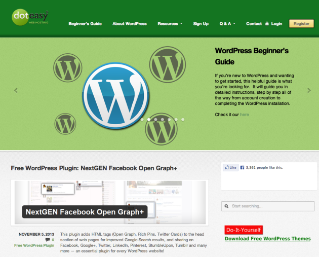 Doteasy WordPress Resources Website – Beginner s Guide for WordPress