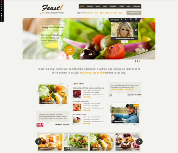 Feast Restaurant WordPress Theme