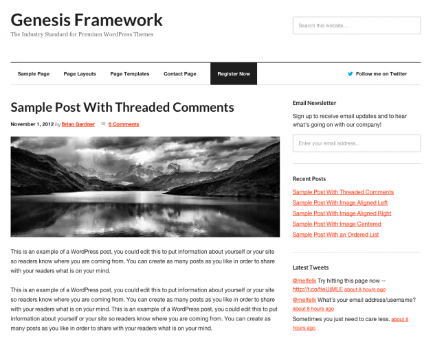Genesis Framework 1.9 — The Industry Standard for Premium WordPress Themes