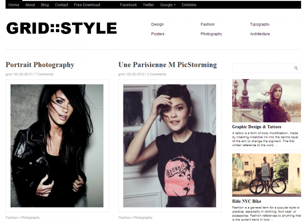 Grid Style Theme Free WordPress Theme Magazine