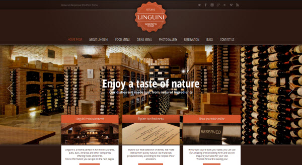 Linguini Restaurant WordPress Theme