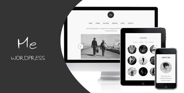Me wordpress portfolio responsive theme