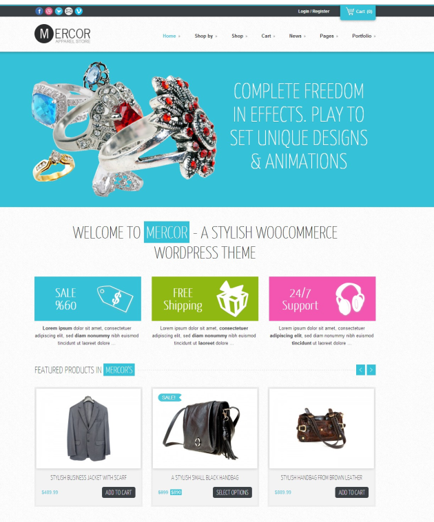 Mercor WooCommerce shop Mercor WooCommerce shop