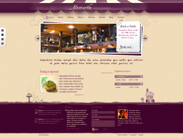 Monmarthe Restaurant WordPress Theme