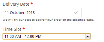 Order Delivery Date Checkout