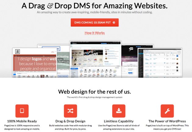PageLines Drag Drop CMS Framework for WordPress