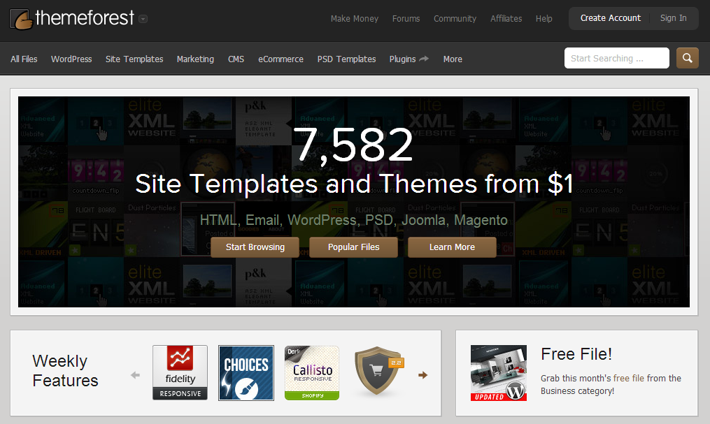 Premium WordPress Themes Web Templates Mobile Themes ThemeForest