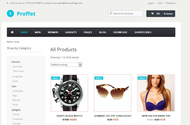 Products Archive - Proffet WooCommerce Theme Demo