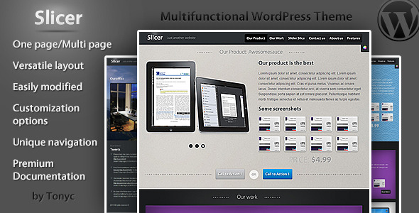 Slicer One/Multi Page Business WordPress Theme