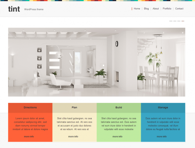 Tint free wordpress theme