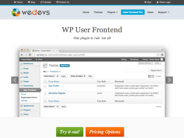 WP User Frontend PRO   The best frontend plugin for WordPress   weDevsweDevs