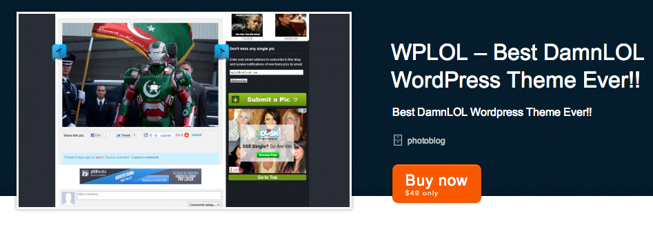 Top DamnLOL WordPress Clone Themes
