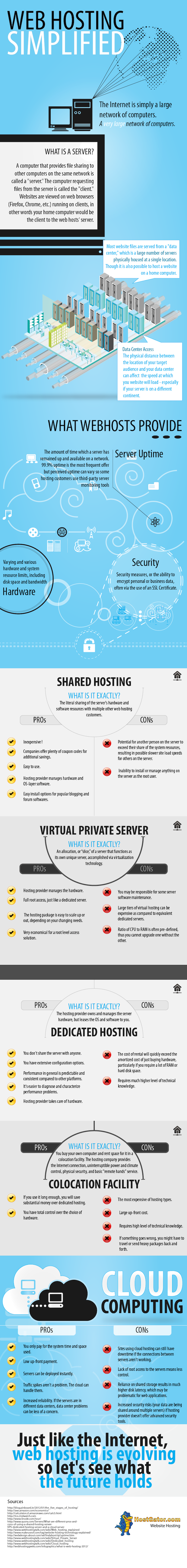 Web Hosting Simplified - An Infographic