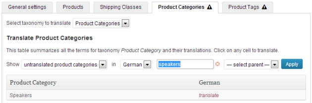 WooCommerce Multilingual CP Categories