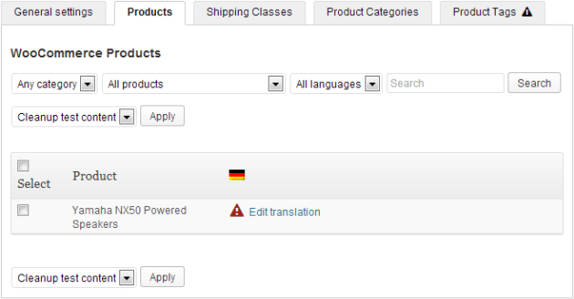 WooCommerce Multilingual CP Products