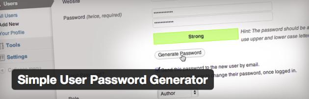 WordPress › Simple User Password Generator « WordPress Plugins