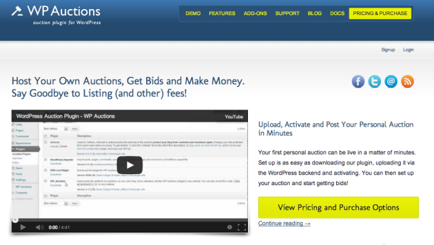 WordPress Auction Plugin WP Auctions