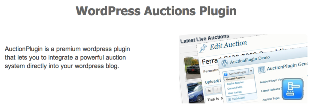 WordPress Auctions Plugin SiteMile.com