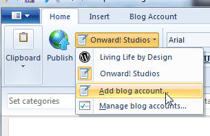 Add Multiple blog accounts in Live Writer