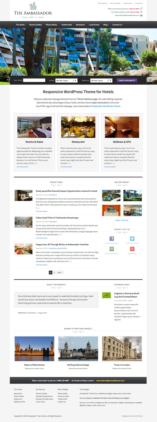 Ambassador WordPress Theme