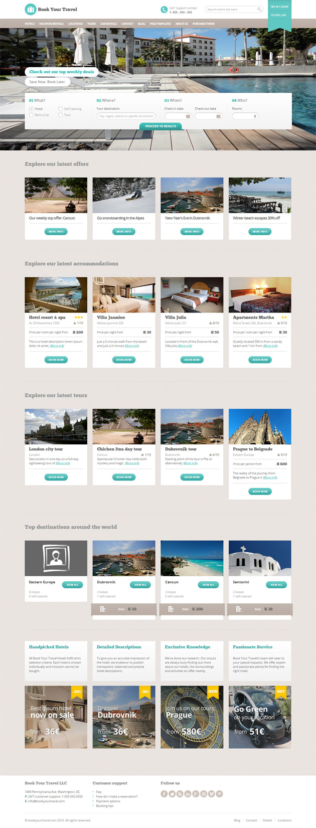 Book Your Travel WordPress Theme