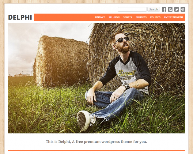 delphi free wordpress theme