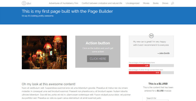 Page built
