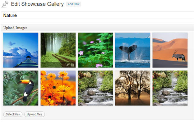 Showcase: A Gallery WordPress Plugin