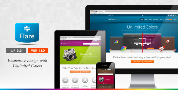 Flare corporate responsive theme for WordPress