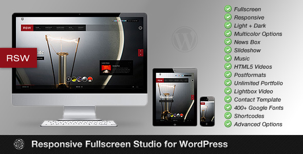 fullscreen studio wordpress photography portfolio responsive theme
