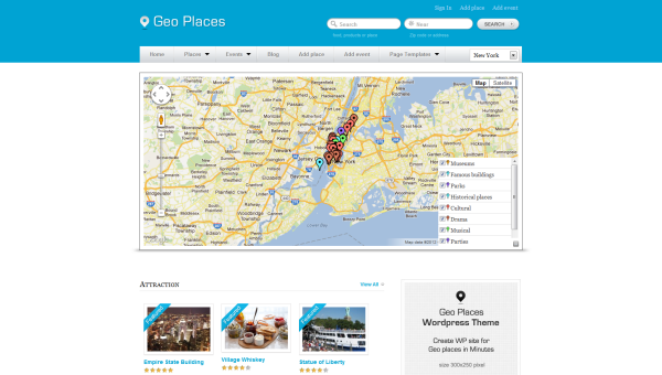 Geo Places travel themes for WordPress