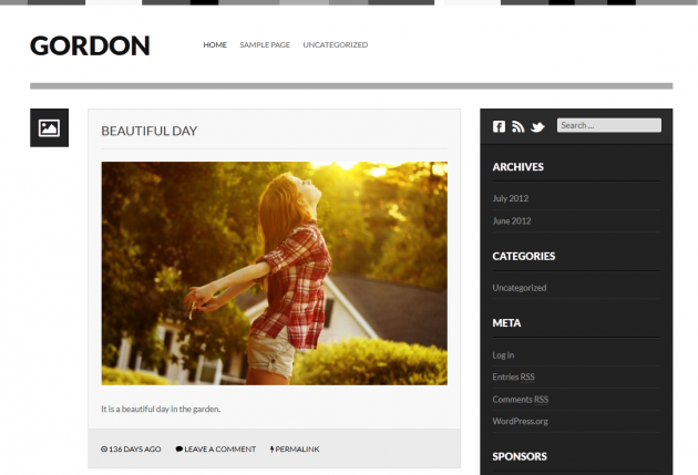 gordon free wordpress theme
