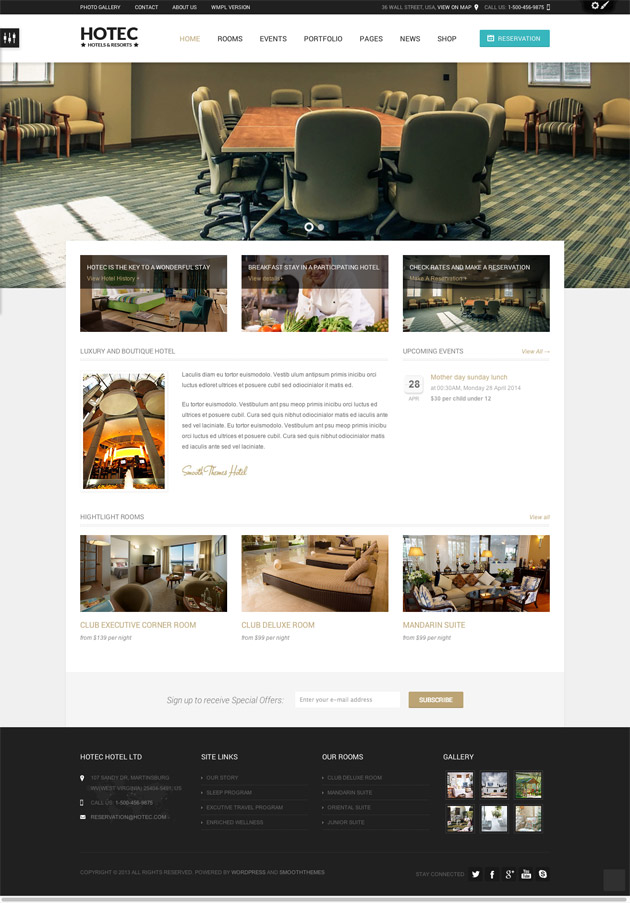 Hotec WordPress Theme