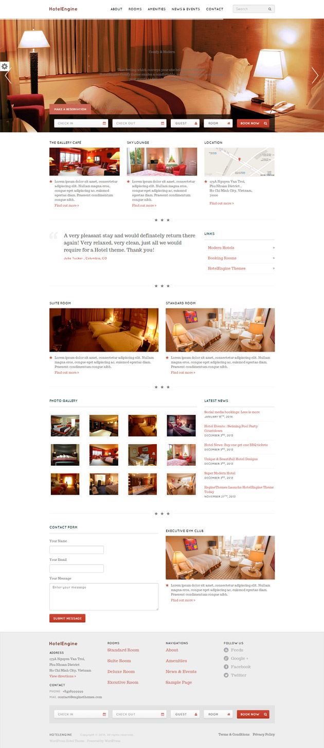 HotelEngine WordPress Theme