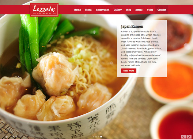 Lezzatos WordPress Theme