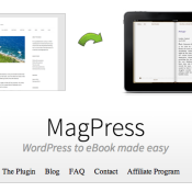 Introducing MagPress: a WordPress Plugin to Create eBooks from Your Blog Posts