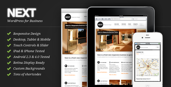 Next corporate responsive theme for WordPress