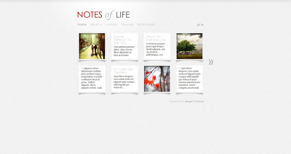 DailyNotes travel themes for WordPress