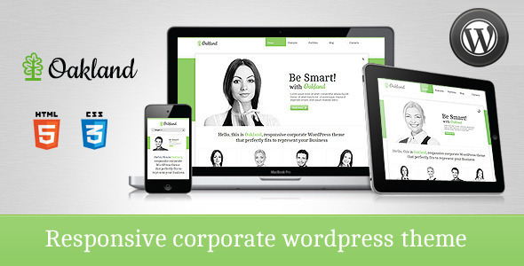 Oakland corporate responsive theme for WordPress
