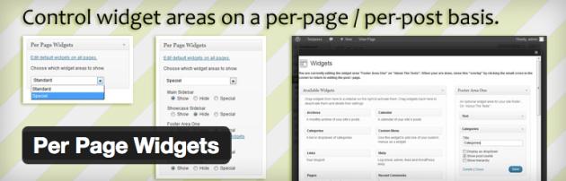 per page widgets