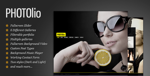 photolio wordpress photography portfolio responsive theme