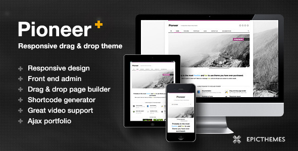 Pioneer corporate responsive theme for WordPress