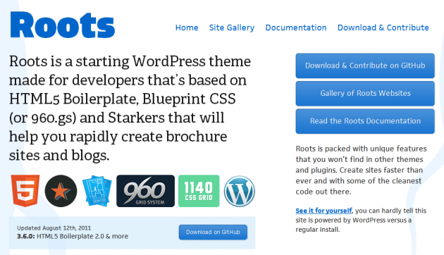 Whats your favourite wordpress responsive theme framework wp mayor roots is a starting wordpress theme made for developers thats based on html5 boilerplate blueprint css or 960 and starkers that will help you rapidly malvernweather