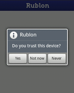 rublon trusted question