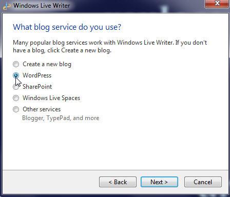 Select WordPress blog