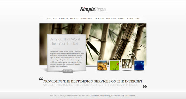SimplePress travel themes for WordPress
