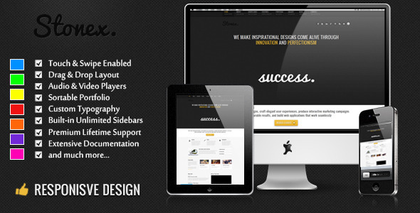 Stonex corporate responsive theme for WordPress