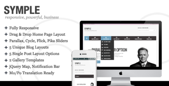 Symple corporate responsive theme for WordPress