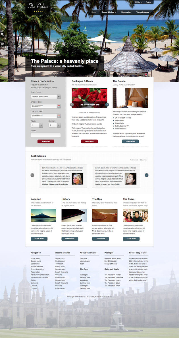 The Palace WordPress Theme