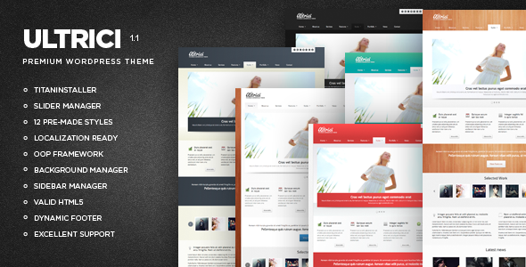 Ultrici corporate responsive theme for WordPress